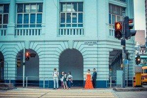 A modern pre-wedding photo were taken in front of a colonial building. Means a lots. [Photos credits: Martin Chiu]