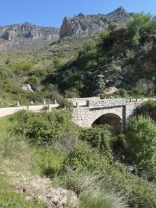 Bridge over the Rio Garganton, on the Camino towards Belmez de Moraleda, Sierra Magina, Spain