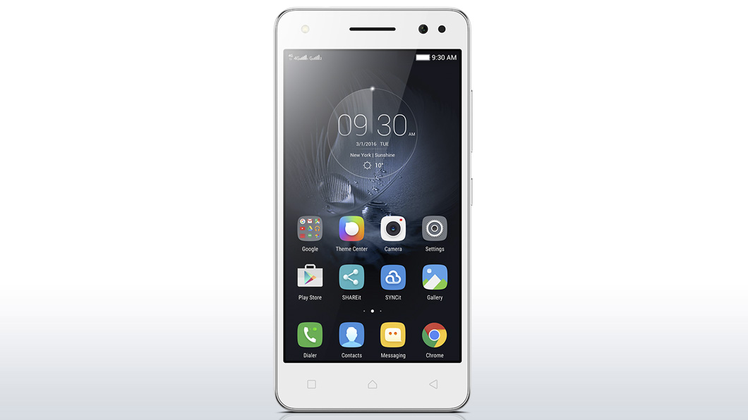 Lenovo Vibe S1 Lite front display with visible Lenovo Launcher