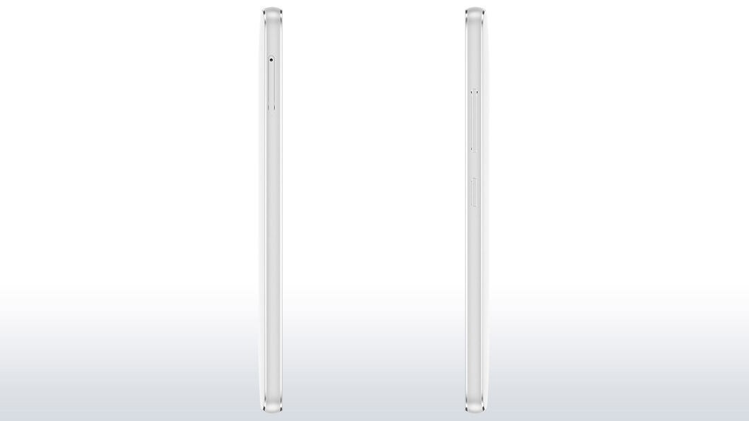 Left and Right profile of the Lenovo Vibe S1 Lite