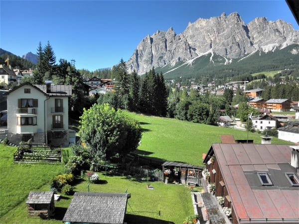 Cortina d'Ampezzo from our hotel room