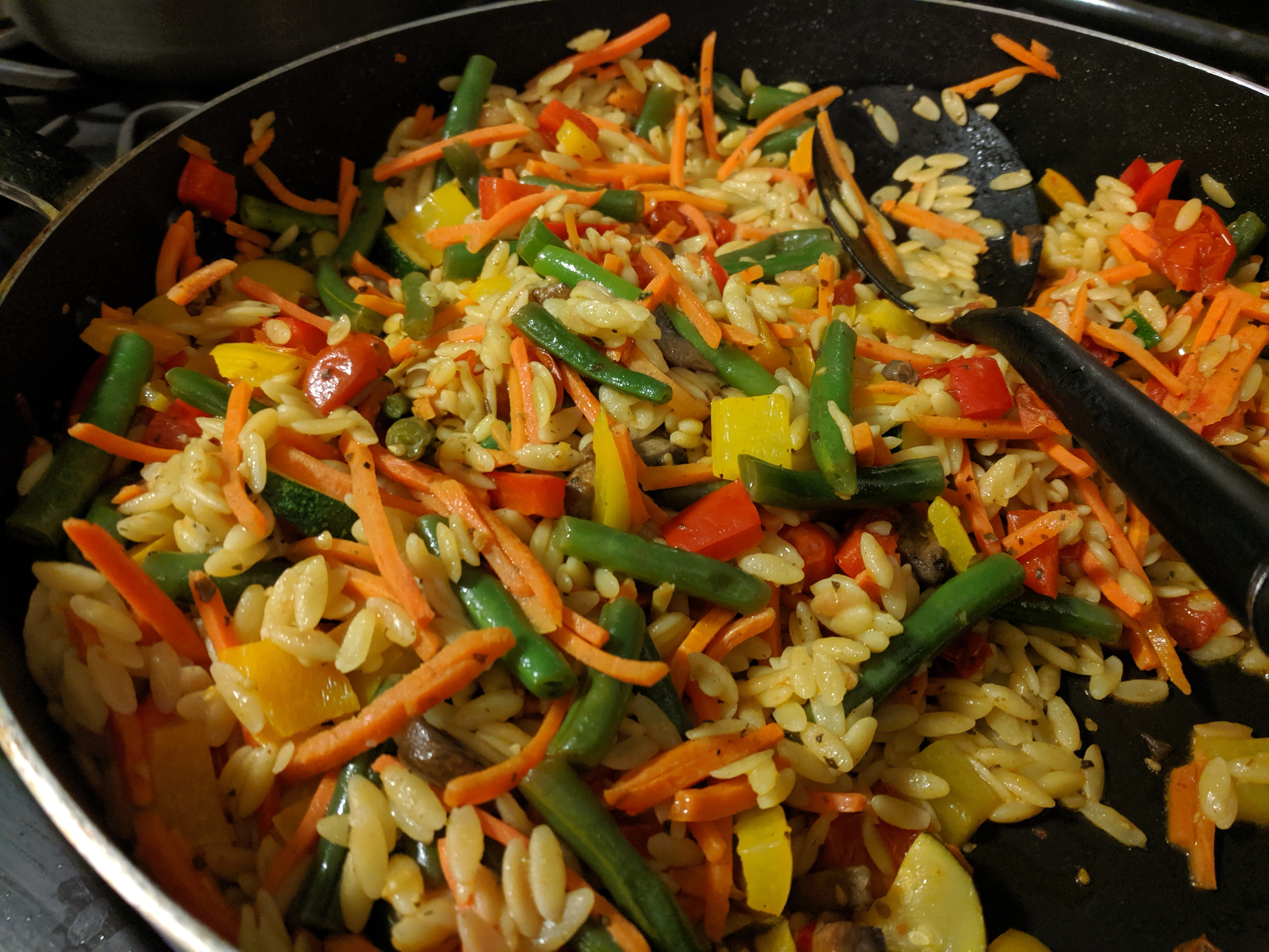 Image of Lemon Garlic Orzo with Veggies