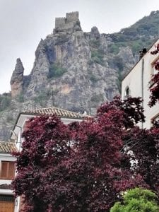 Castle on the hill in Albanchez, Sierra Magina, Spain