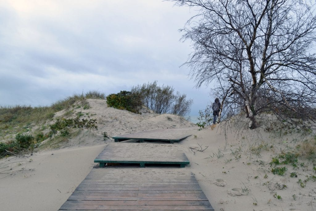 Curonian Spit tourist route to the Baltic Sea