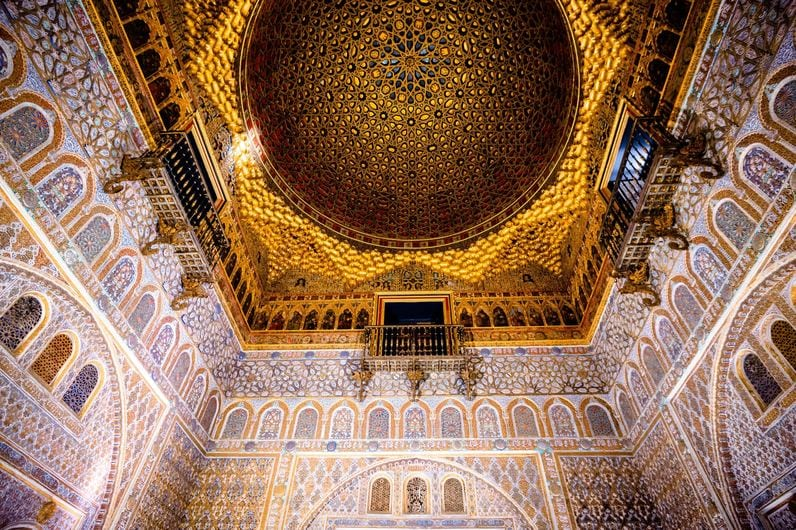 Moorish detailing in the Alcazar of Sevilla