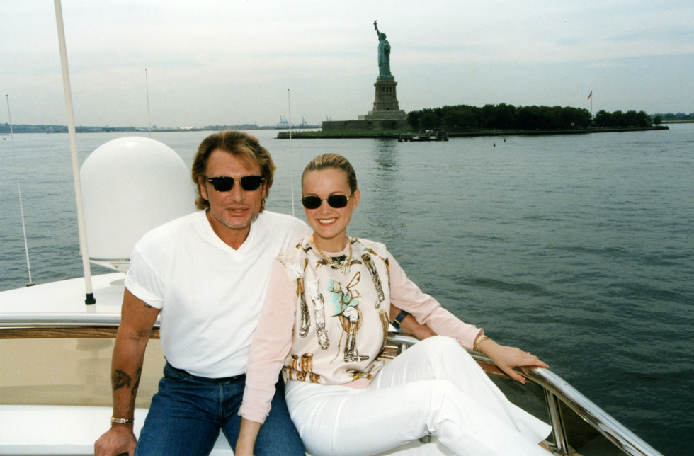 Johnny Hallyday et Laeticia Hallyday à New york en 1997.