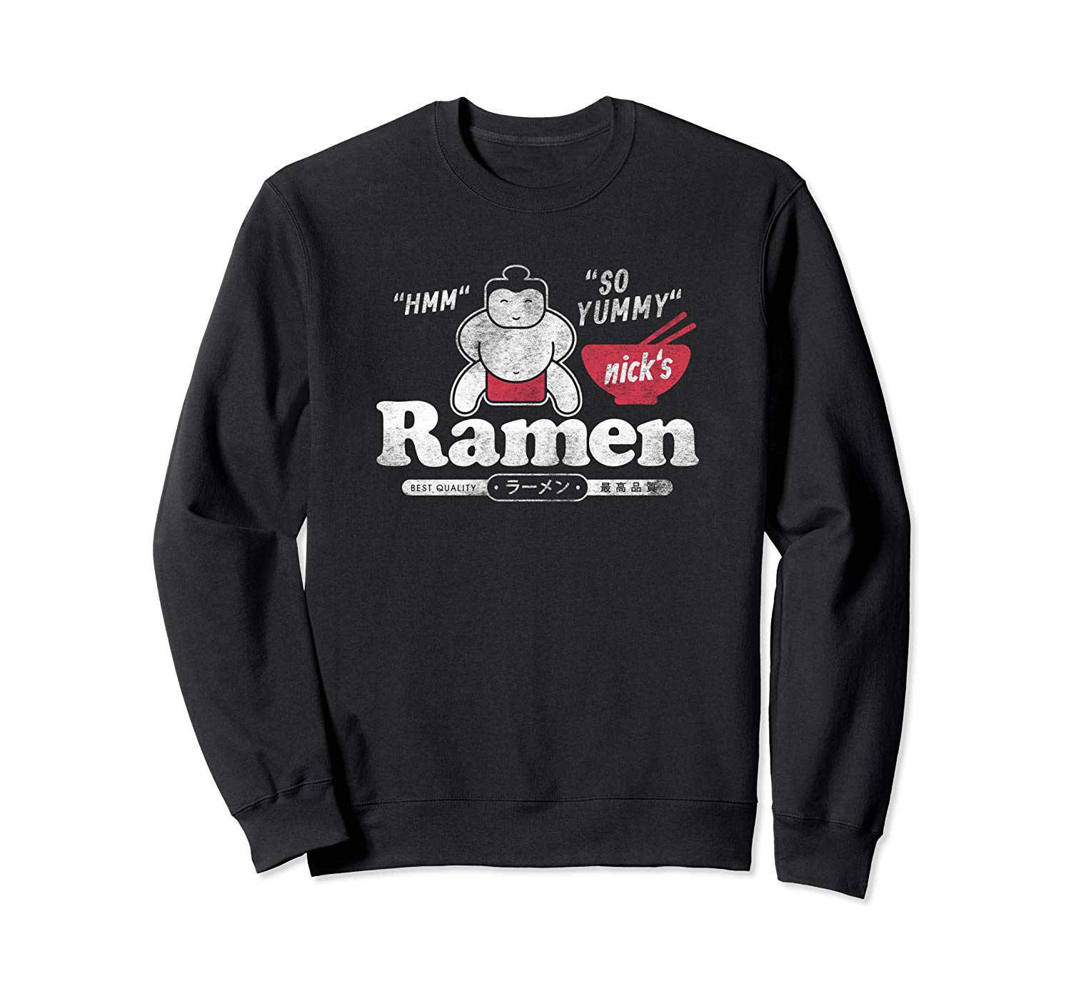 T-Shirt: Nicks Ramen Sumo Japan Nudel Retro Design Sweatshirt