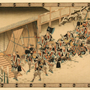 Utagawa Hiroshige, Breaking into Moronao's Mansion During the Night Attack., Photo: Courtesy of the Allen Memorial Art Museum