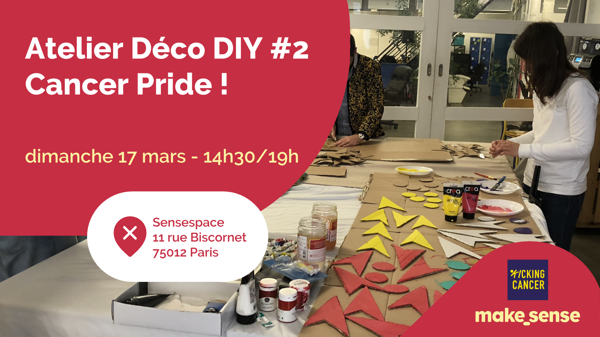 Image of the event : Atelier Déco DIY Cancer Pride 2019 🌷