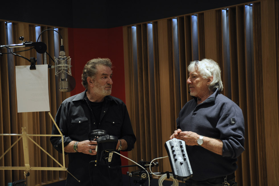 "Recording of the ""New Yorker"" music album with Eddy Mitchell (2008)"
