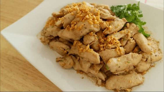 Stir-fried Garlic and Pepper with chicken