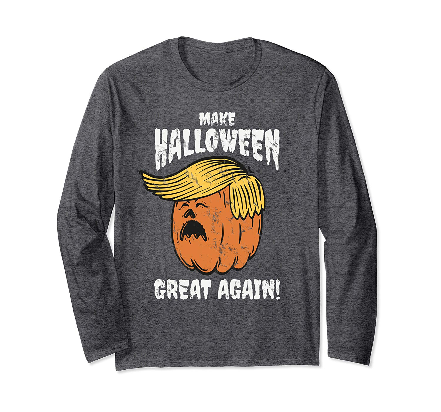 T-Shirt: Make Halloween Great Again Lustiges Trumpkin Langarmshirt
