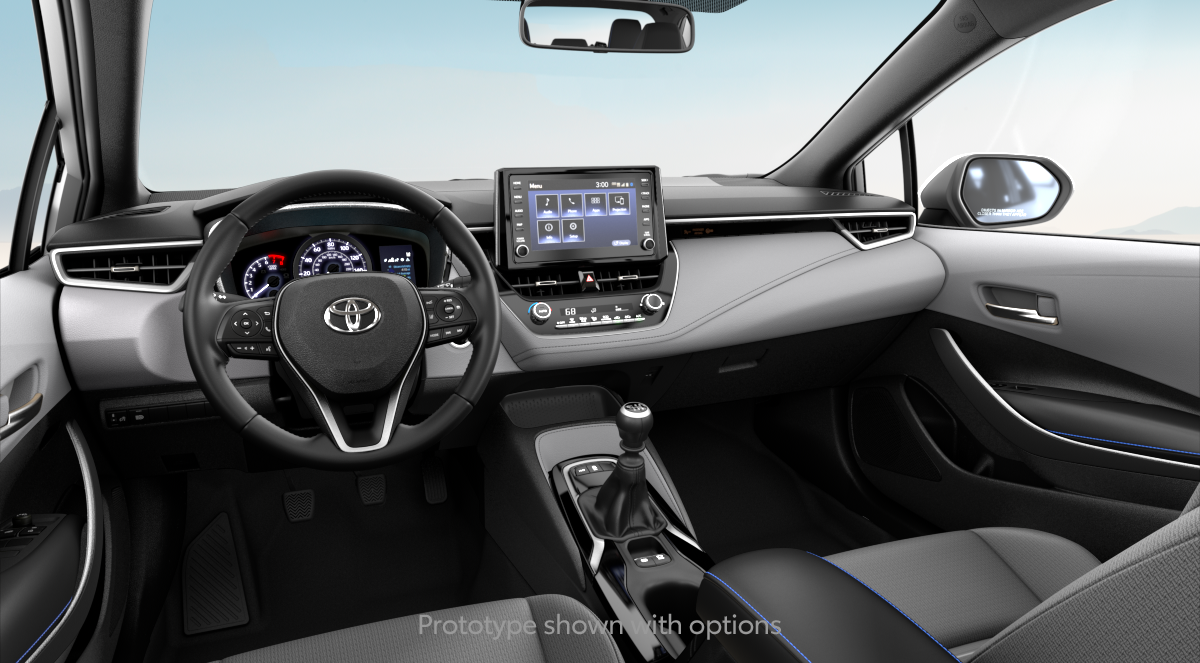 2020 Toyota Corolla SE (6MT) in LIGHT GRAY MOONSTONE FABRIC interior, with code FC23