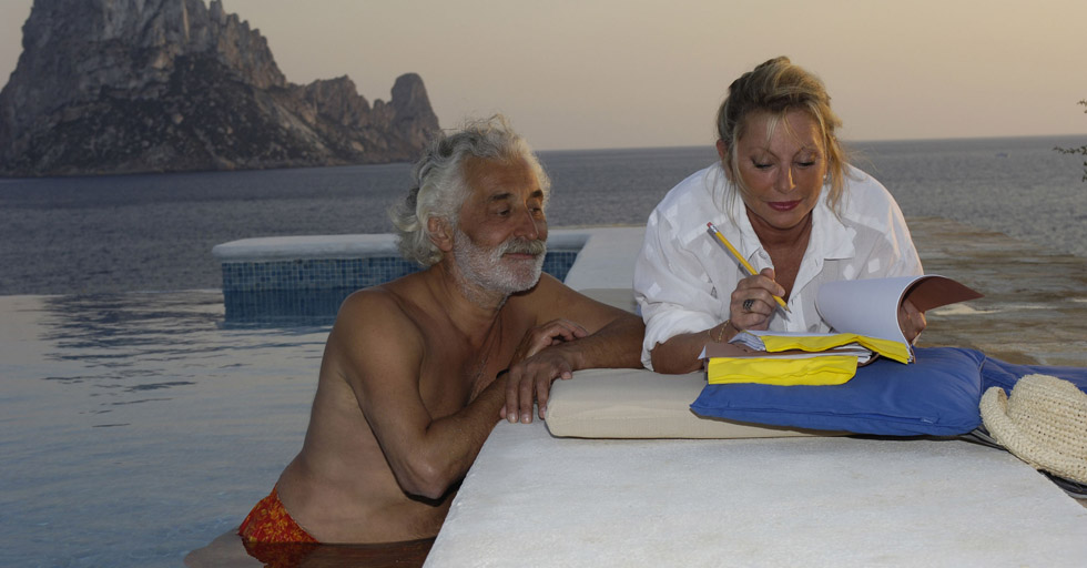 Véronique Sanson et Christian Meilland à Ibiza en septembre 2005.