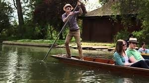 Students punting on the river Cherwell. No training needed, just hop in and give it a try!