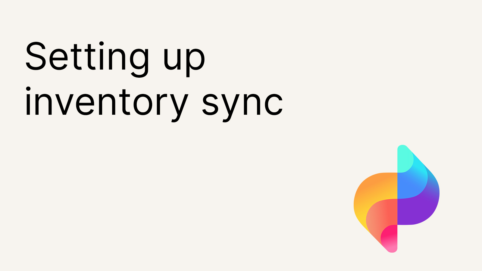 Setting up inventory sync