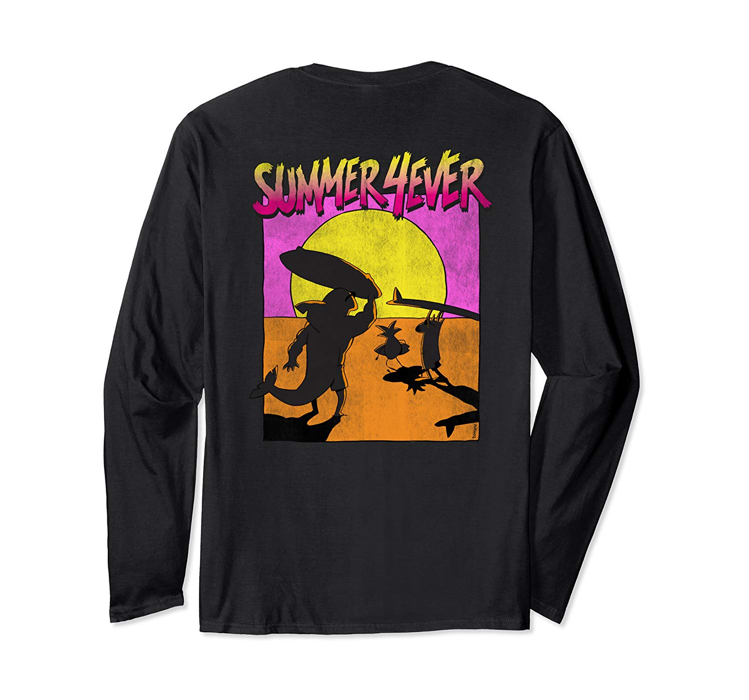 T-Shirt: Summer 4ever Funny 80s Style Surf Design Langarmshirt