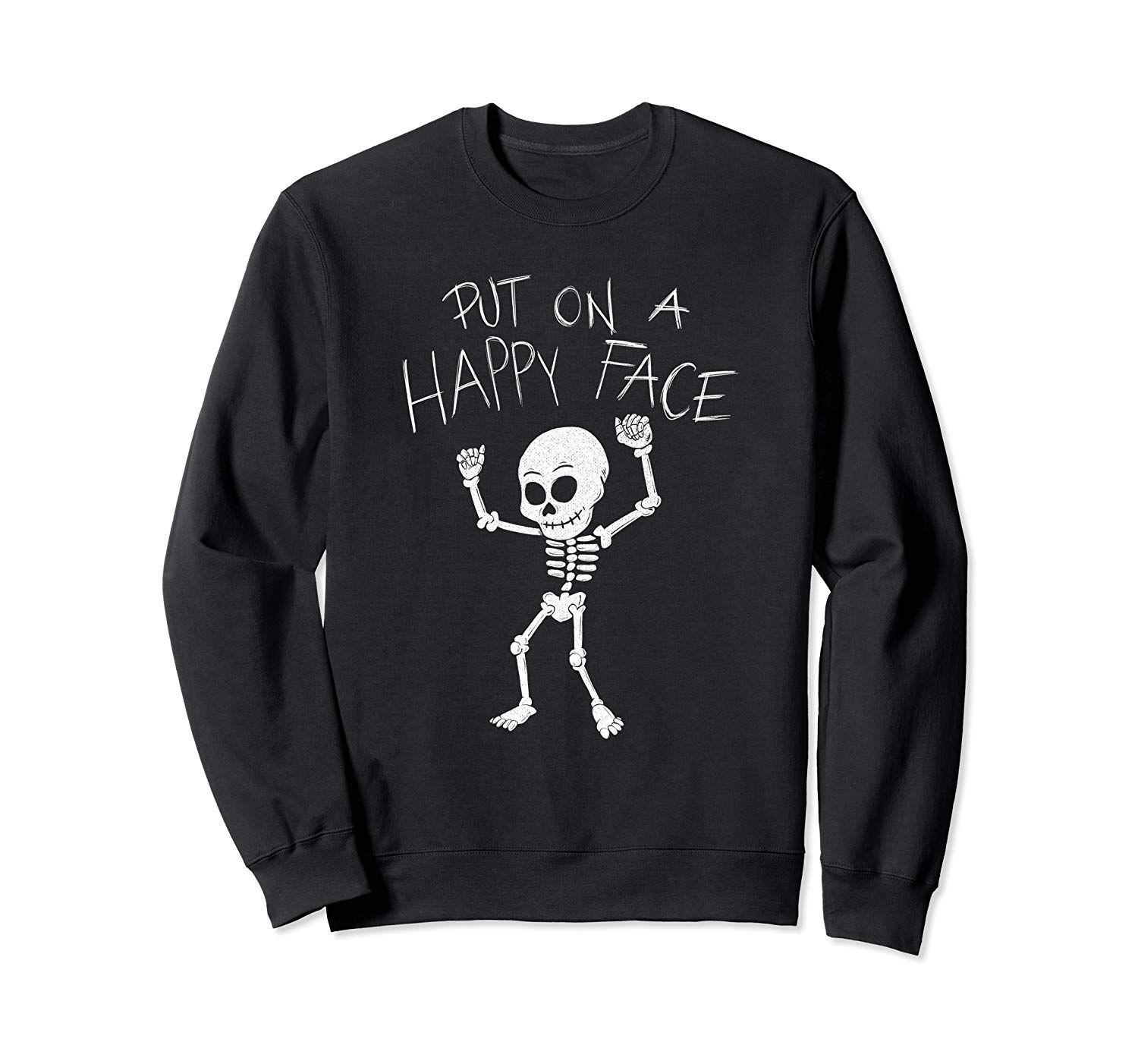 T-Shirt: Dancing Skelett Put On A Happy Face Dab Halloween Sweatshirt