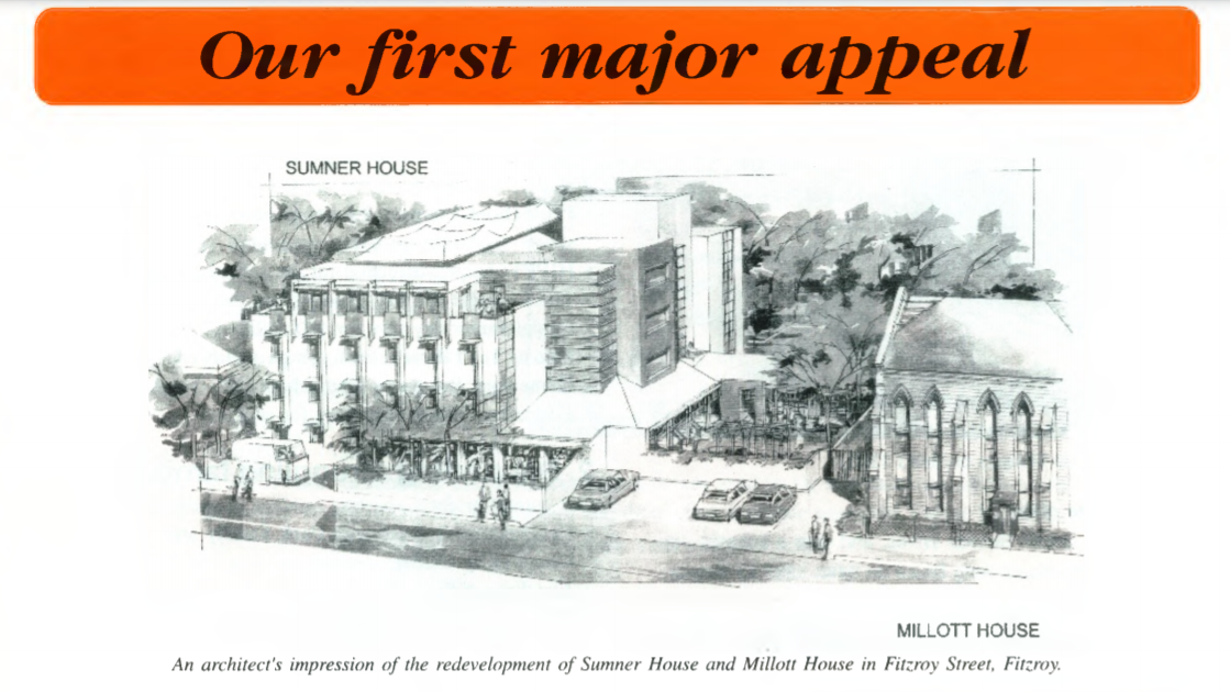 This image depicts an artist impression of the MIllot House redevelopment from the BSL newsletter.