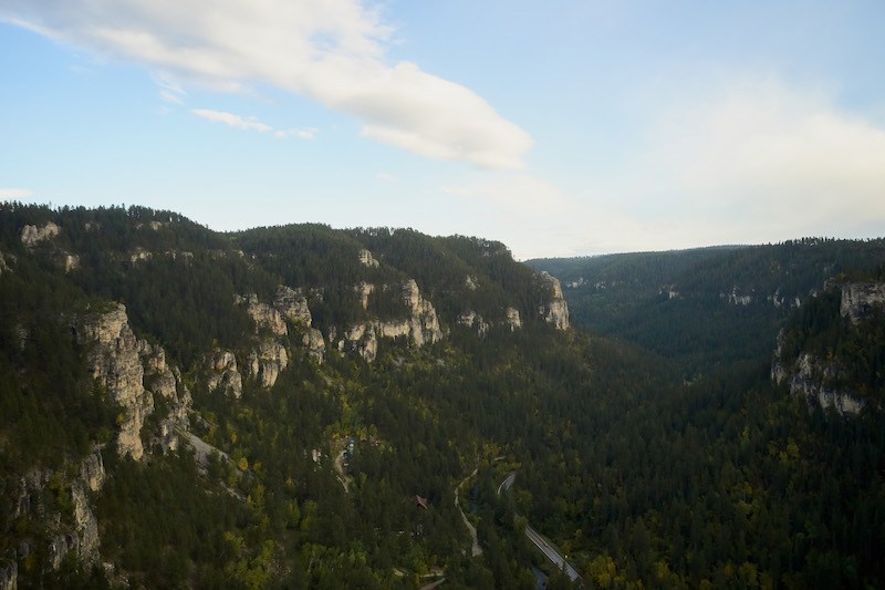 Aerial-view-of-Spearfish-Canyon-and-road