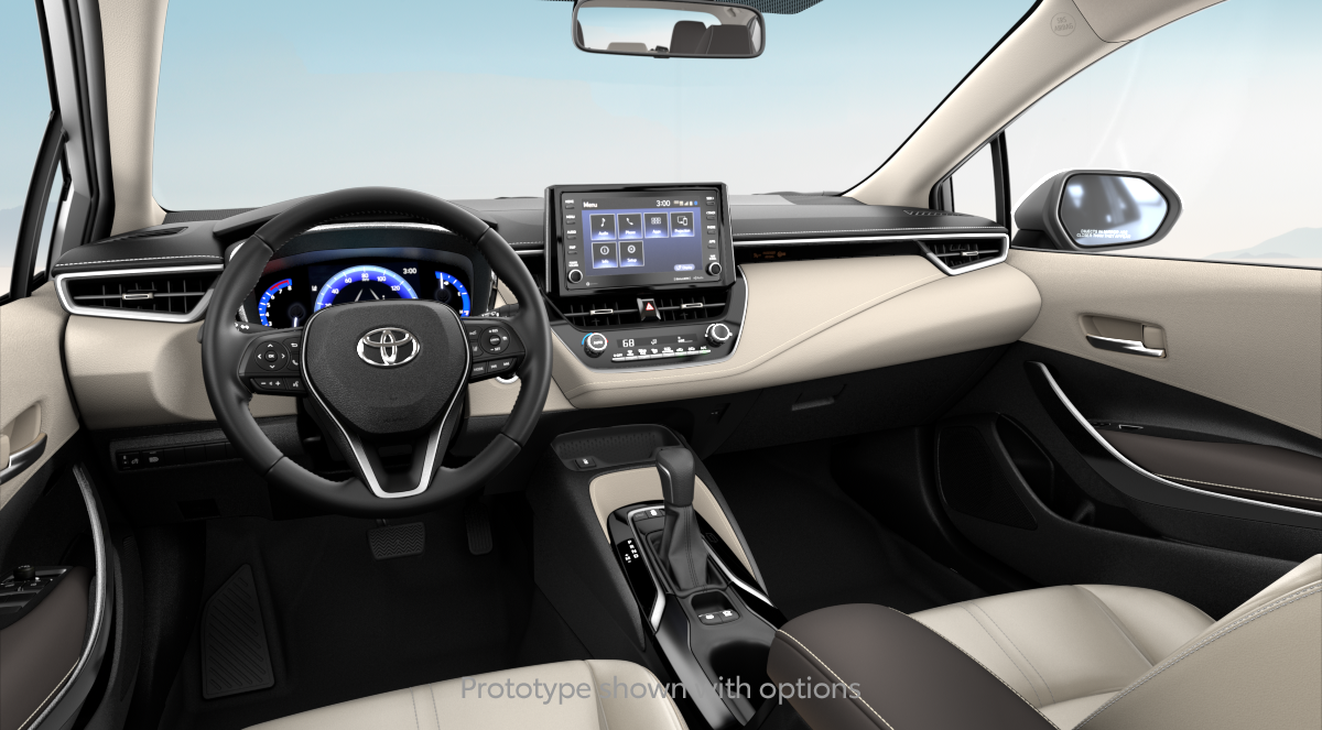 2020 Toyota Corolla XLE in MACADAMIA BEIGE SOFTEX interior, with code EA00