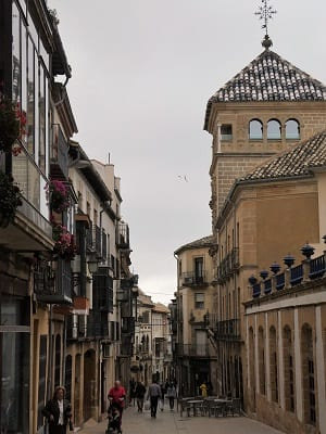 A street in the city of Ubeda