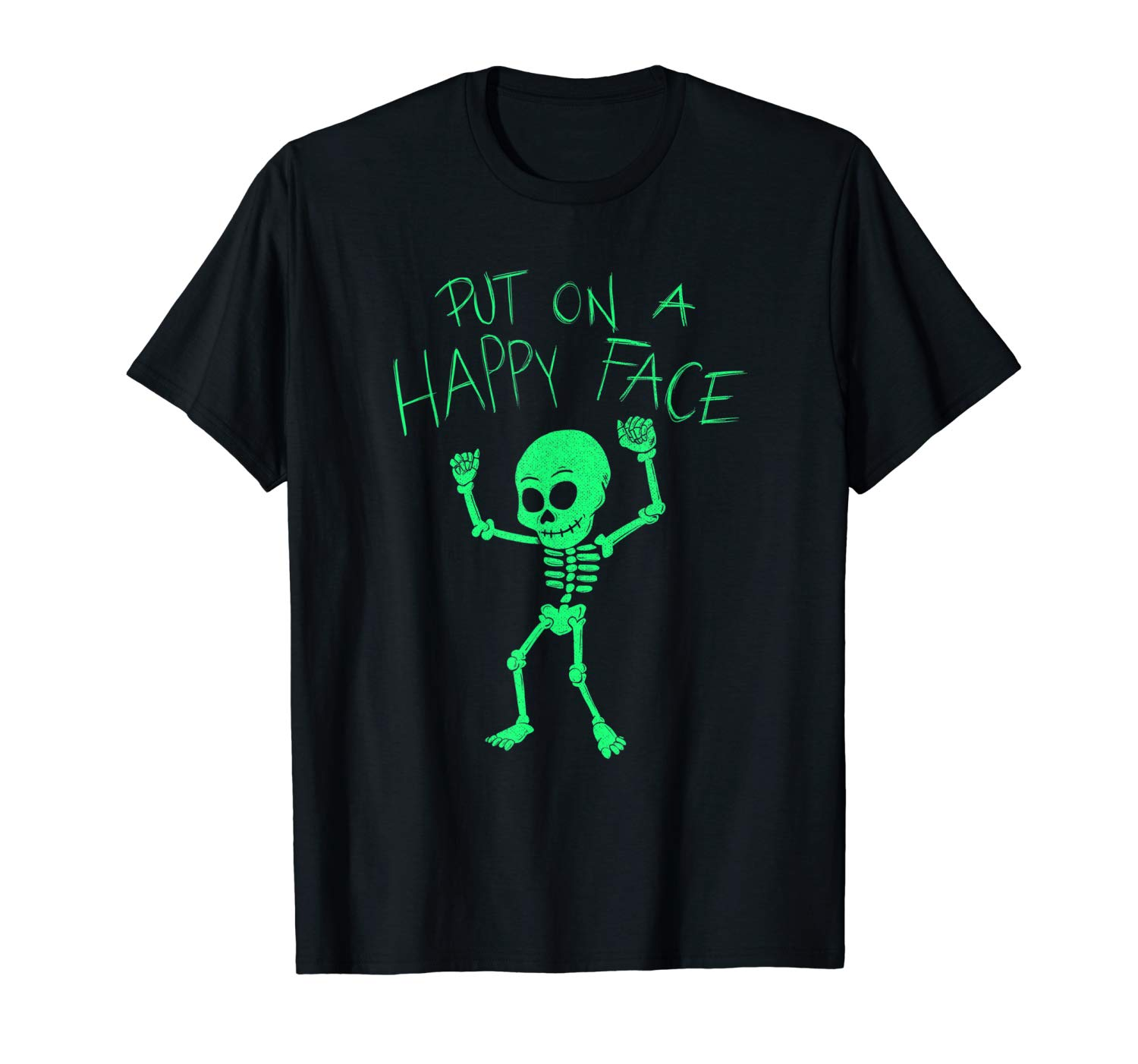 T-Shirt: Dancing Skelett Put On A Happy Face Dab T-Shirt