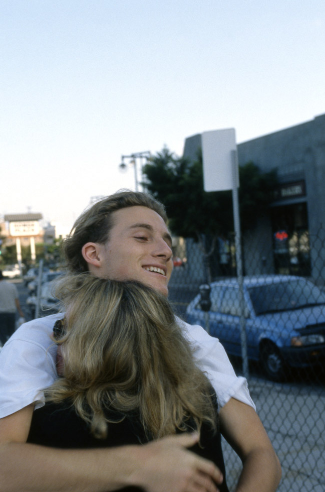 Véronique Sanson et son fils Christopher à Los Angeles en septembre 1993.