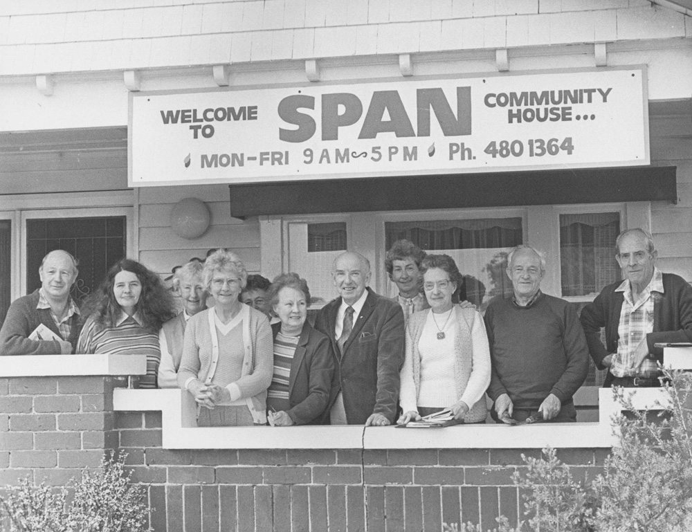 This is a photo of the members of SPAN community house in Thornbury.