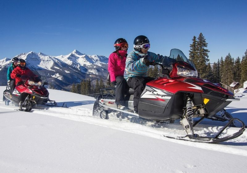 guests snowmobiling through San Juan Mountains1
