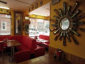 The charming Tick Tock Cafe (3-5 Cowley Road)