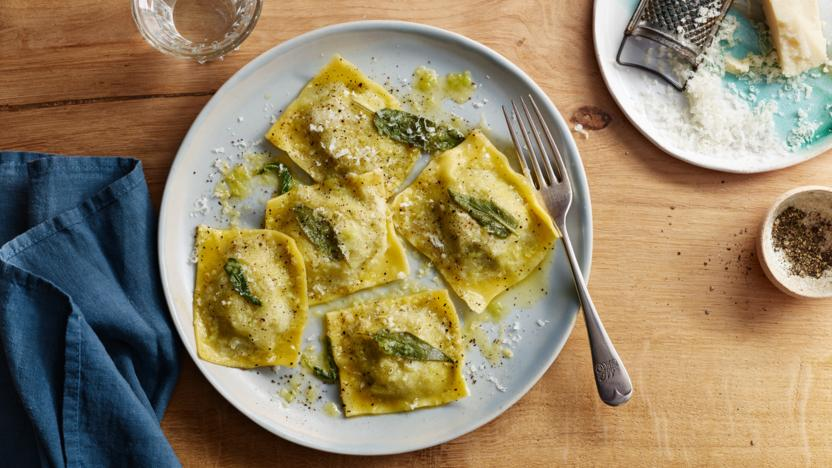 Ricotta Ravioli with Sage Butter