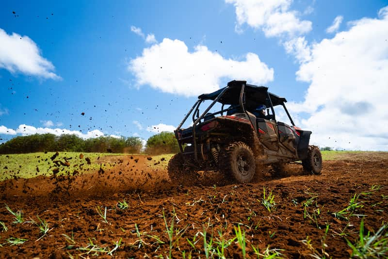 RZR-kicking-up-dirt-in-hawaii