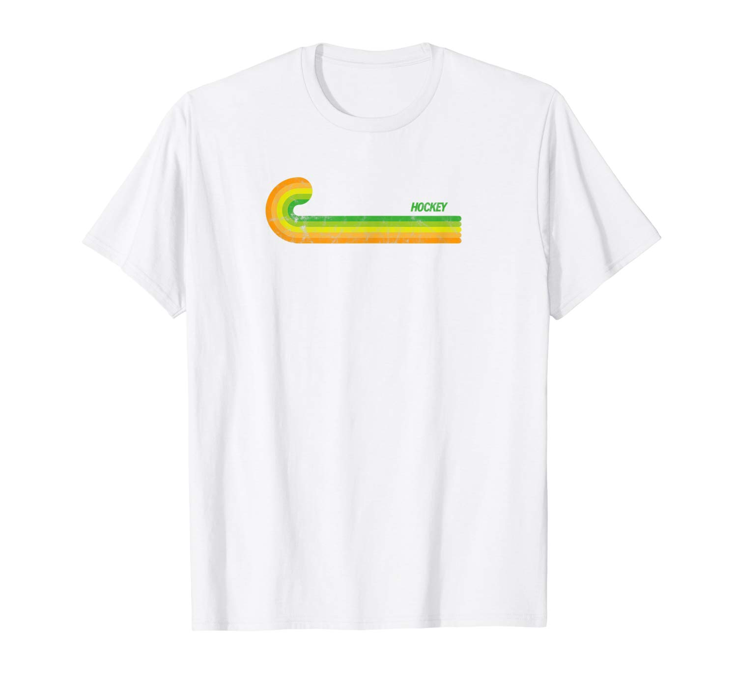 T-Shirt: Retro Hockeystick Feldhockey Spieler Trainer T-Shirt