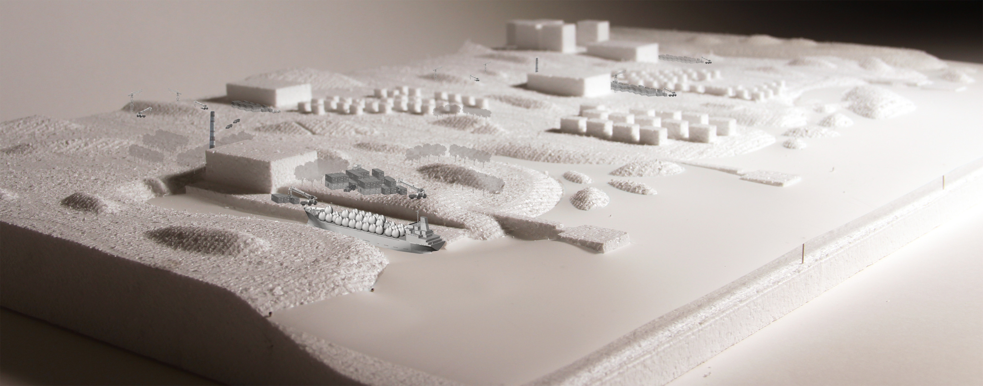 Overall Design Model (Mock) with White Foam