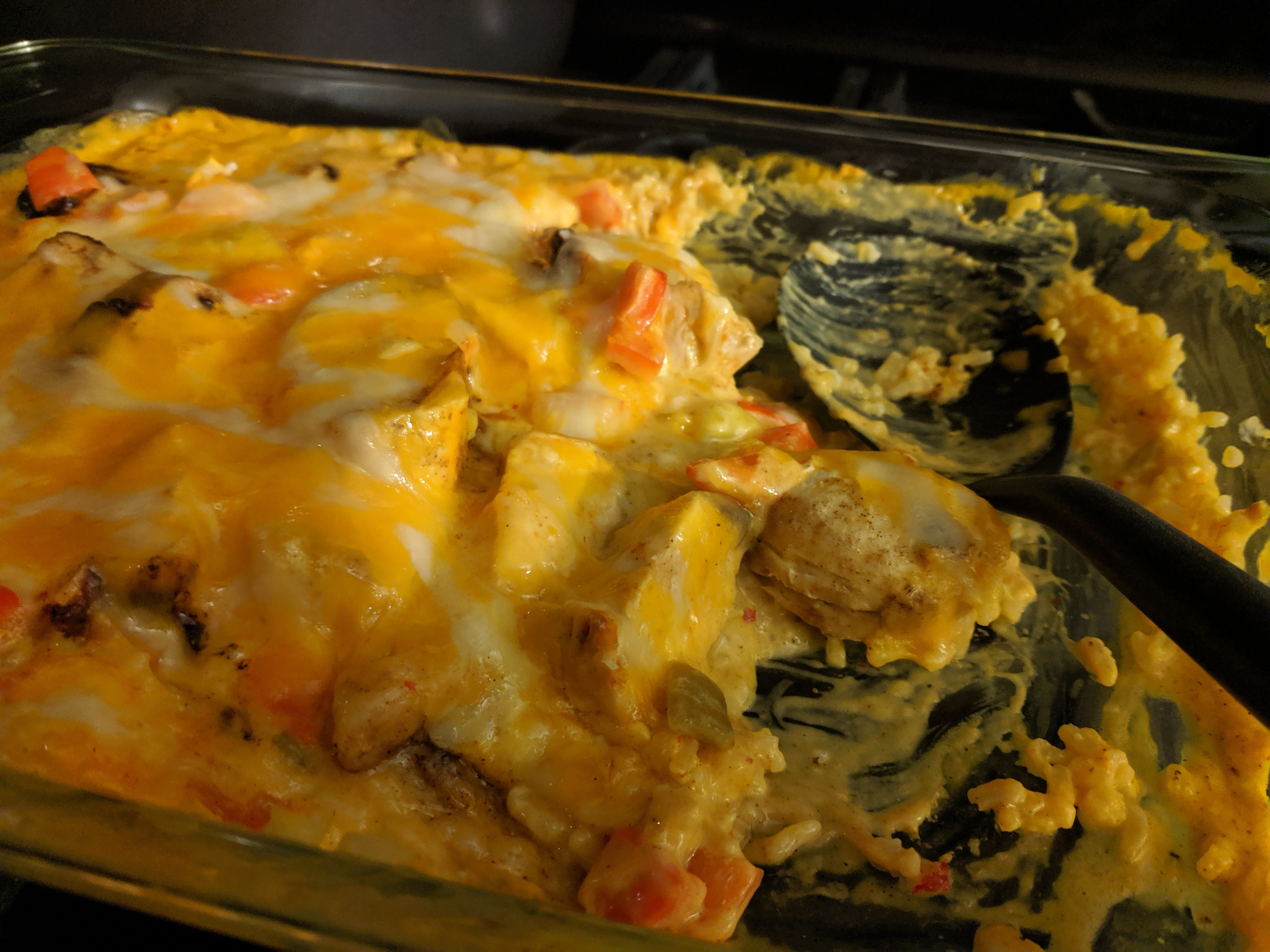 Image of Smothered Chicken Queso Casserole