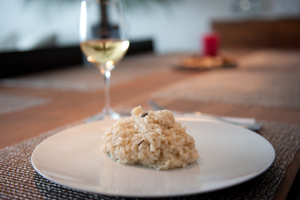 Risotto with champagne and truffle