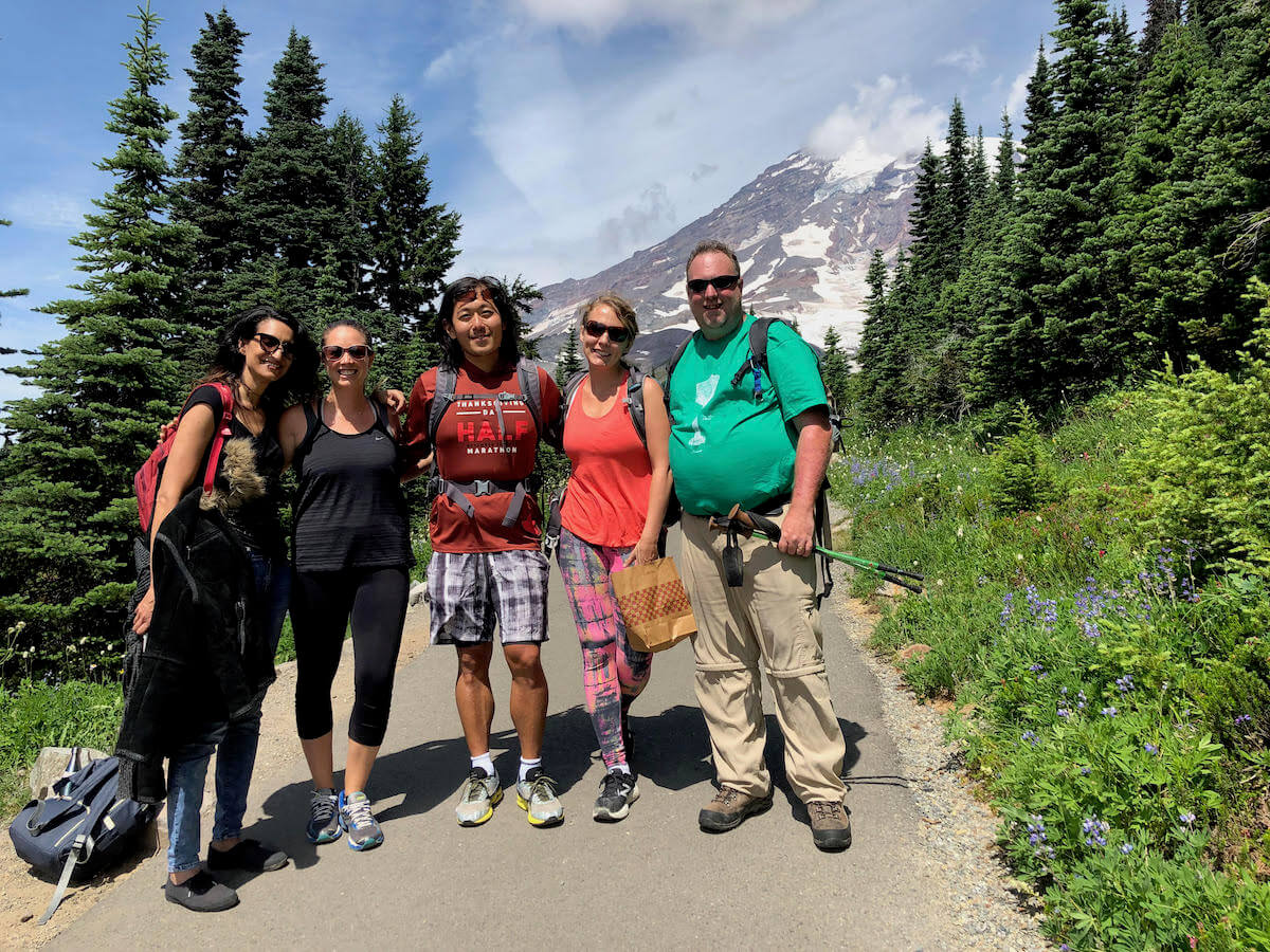 Hiking Mt. Rainier is a staple of the Evergreen phage meeting
