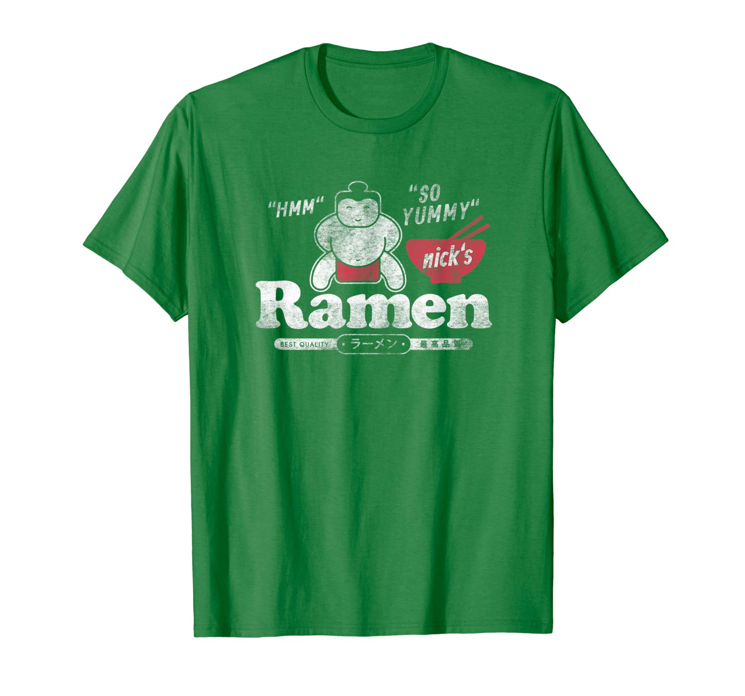 T-Shirt: Nicks Ramen Sumo Japan Nudel Retro Design T-Shirt