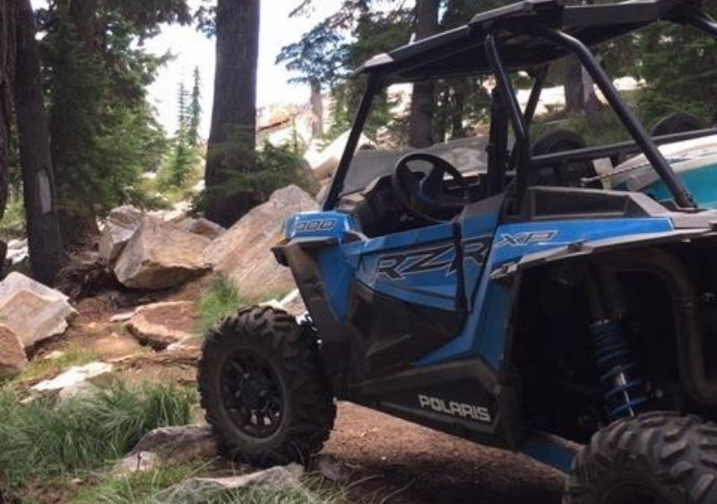 Polaris-RZR-driving-through-trees