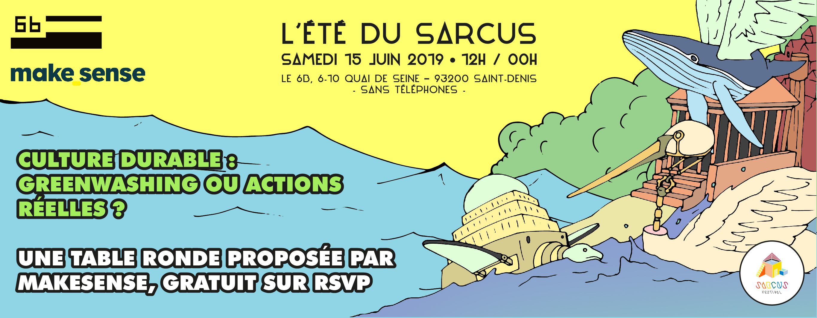 Image of the event : Sarcus x makesense_room - Culture et écologie : comment passer de l'intention à l'action ?