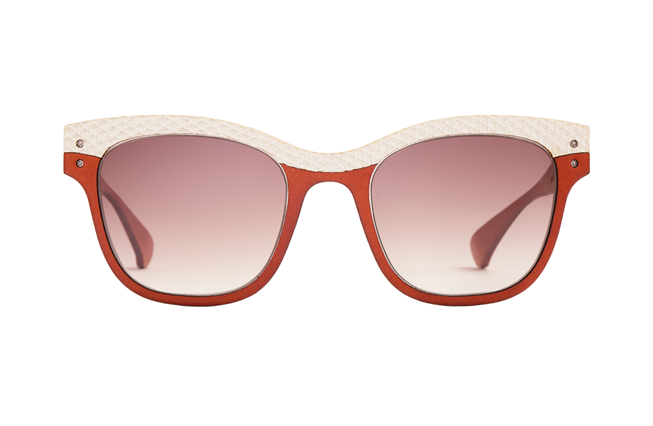 Lunettes de soleil Vivarium Edition 2016/09-V - , Lucas De Staël, Rectangle Papillon, de couleur Marron Blanc.