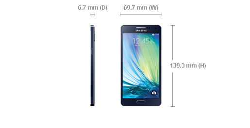 The Samsung Galaxy A5, taken from www.samsung.com