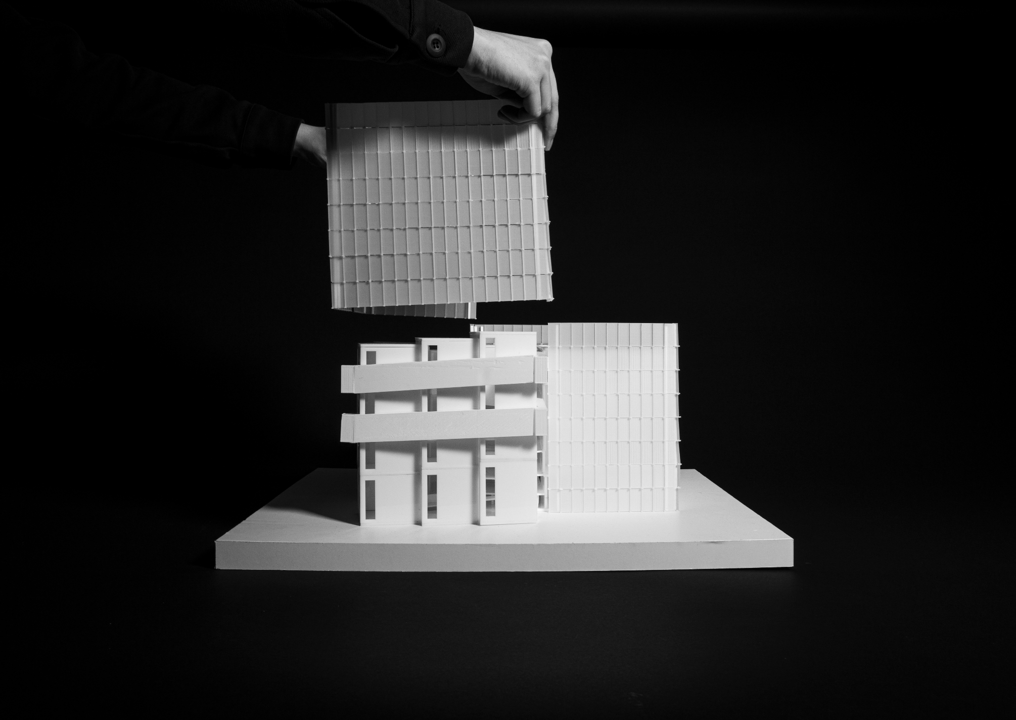 Photo of completed model - facade comes off