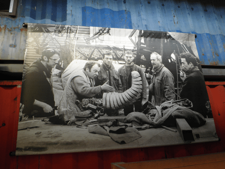A photo from the construction of the Elephant