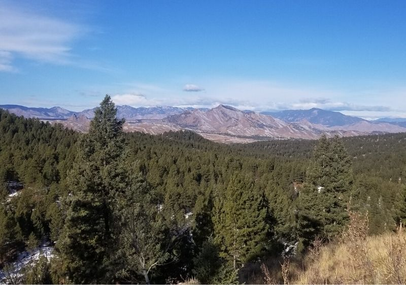 scenic mountain range in distance