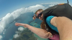 Jumping out of a plane over the Whitsundays