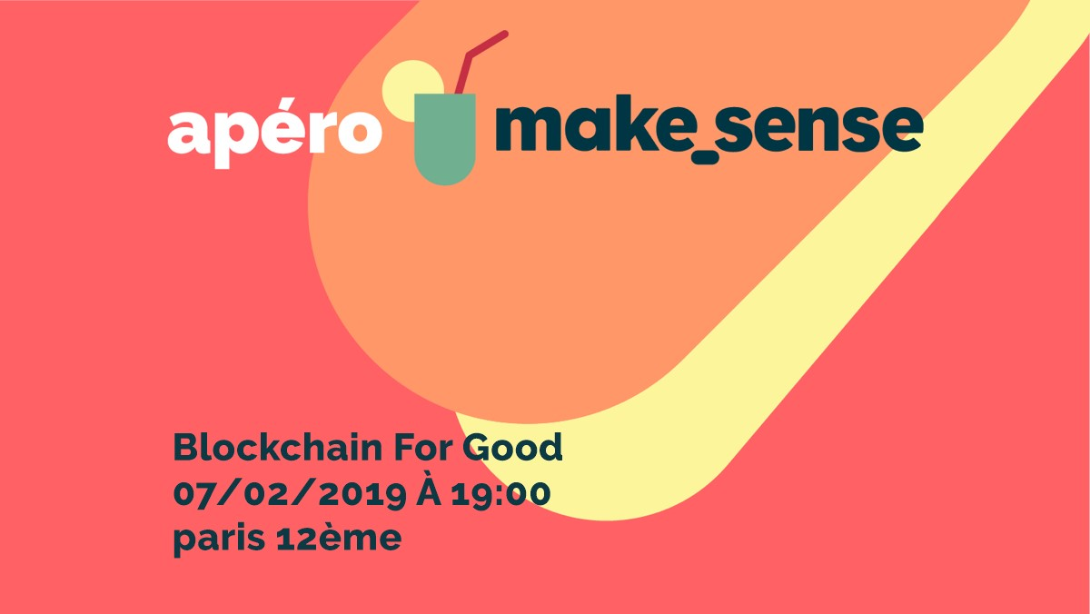Image of the event : Blockchain for good