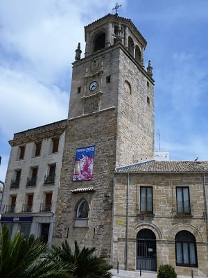 Renaissance tower on a church in Ubeda, Spain