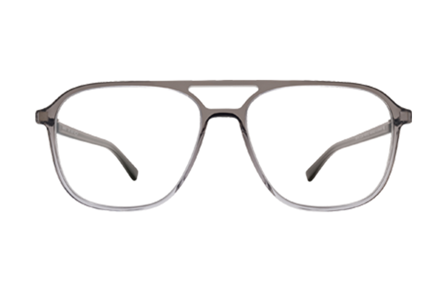 Lunettes de vue Gylfi - GREY-GRADIENT, Mykita, Rectangle Pilote, de couleur Gris Transparent.